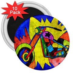 Chopper 3  Button Magnet (10 pack)