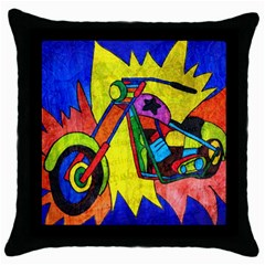 Chopper Black Throw Pillow Case