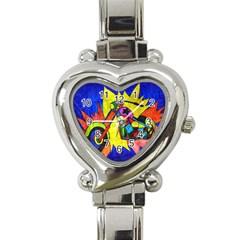 Chopper Heart Italian Charm Watch