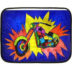 Chopper Mini Fleece Blanket (two Sided)