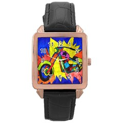 Chopper Rose Gold Leather Watch