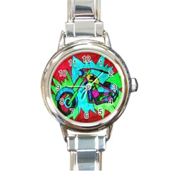 Chopper Round Italian Charm Watch