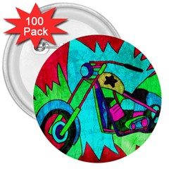 Chopper 3  Button (100 Pack)