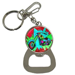 Chopper Bottle Opener Key Chain