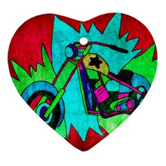 Chopper Heart Ornament (two Sides)