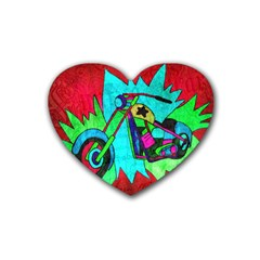 Chopper Drink Coasters 4 Pack (heart)