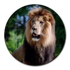 Regal Lion 8  Mouse Pad (round)