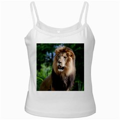 Regal Lion White Spaghetti Tank