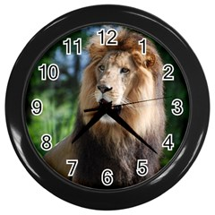 Regal Lion Wall Clock (Black)