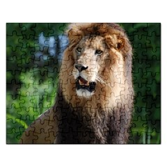 Regal Lion Jigsaw Puzzle (Rectangle)