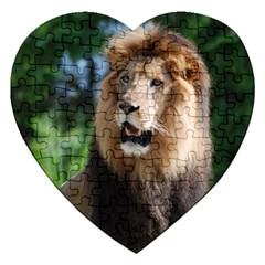 Regal Lion Jigsaw Puzzle (heart)