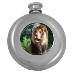 Regal Lion Hip Flask (round)