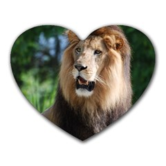 Regal Lion Mouse Pad (Heart)