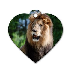 Regal Lion Dog Tag Heart (Two Sided)