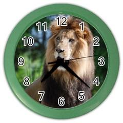 Regal Lion Wall Clock (color)