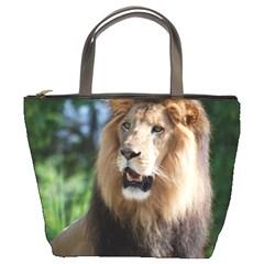 Regal Lion Bucket Handbag