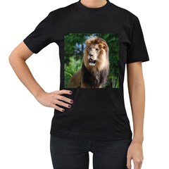 Regal Lion Women s T-shirt (Black)