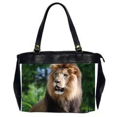 Regal Lion Oversize Office Handbag (two Sides)