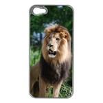 Regal Lion Apple iPhone 5 Case (Silver) Front