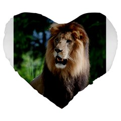 Regal Lion 19  Premium Heart Shape Cushion