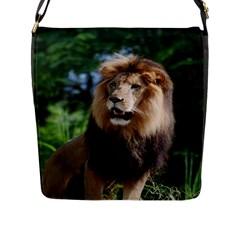 Regal Lion Flap Closure Messenger Bag (large)