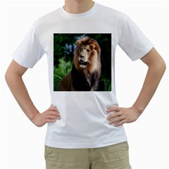 Regal Lion Men s T Shirt (white)