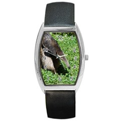 Giant Anteater Tonneau Leather Watch