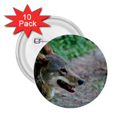 Red Wolf 2.25  Button (10 pack)