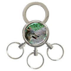Red Wolf 3-Ring Key Chain