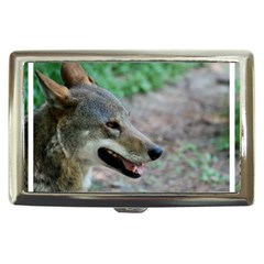 Red Wolf Cigarette Money Case