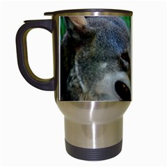 Red Wolf Travel Mug (white)