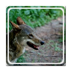 Red Wolf Face Towel