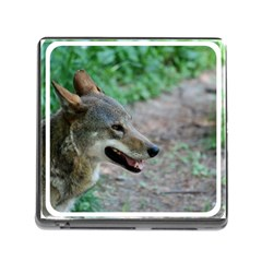 Red Wolf Memory Card Reader With Storage (square)
