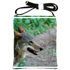 Red Wolf Shoulder Sling Bag