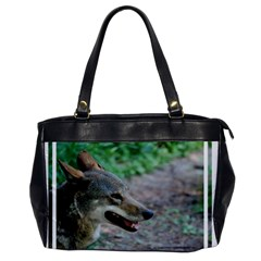 Red Wolf Oversize Office Handbag (one Side)