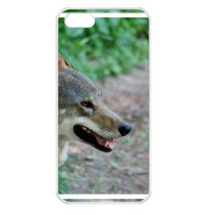 Red Wolf Apple iPhone 5 Seamless Case (White)