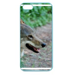 Red Wolf Apple Seamless Iphone 5 Case (color)