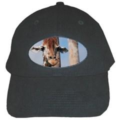 Cute Giraffe Black Baseball Cap