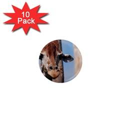 Cute Giraffe 1  Mini Button Magnet (10 pack)