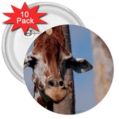 Cute Giraffe 3  Button (10 Pack)