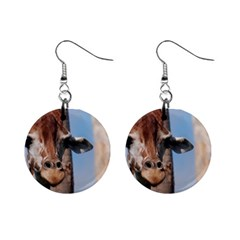 Cute Giraffe Mini Button Earrings