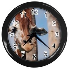 Cute Giraffe Wall Clock (black)