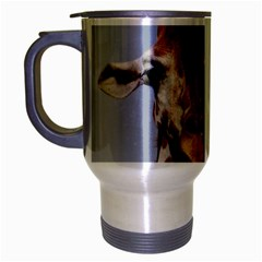 Cute Giraffe Travel Mug (Silver Gray)