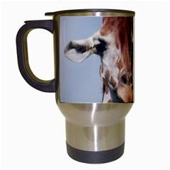 Cute Giraffe Travel Mug (white)