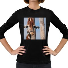 Cute Giraffe Women s Long Sleeve T-shirt (Dark Colored)