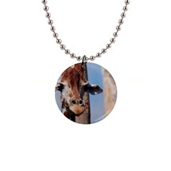 Cute Giraffe Button Necklace