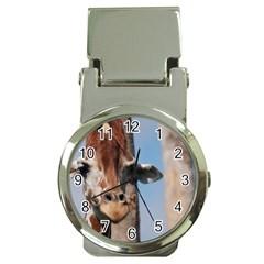 Cute Giraffe Money Clip with Watch