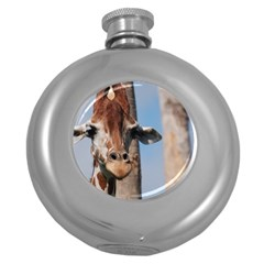 Cute Giraffe Hip Flask (Round)