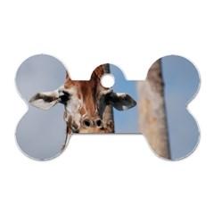 Cute Giraffe Dog Tag Bone (one Sided)