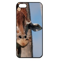 Cute Giraffe Apple Iphone 5 Seamless Case (black)